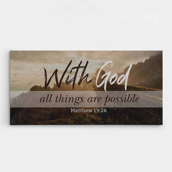 christian gift ideas for wife: with god all things are possible