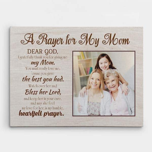 spiritual gifts for women: A prayer for my mom canvas