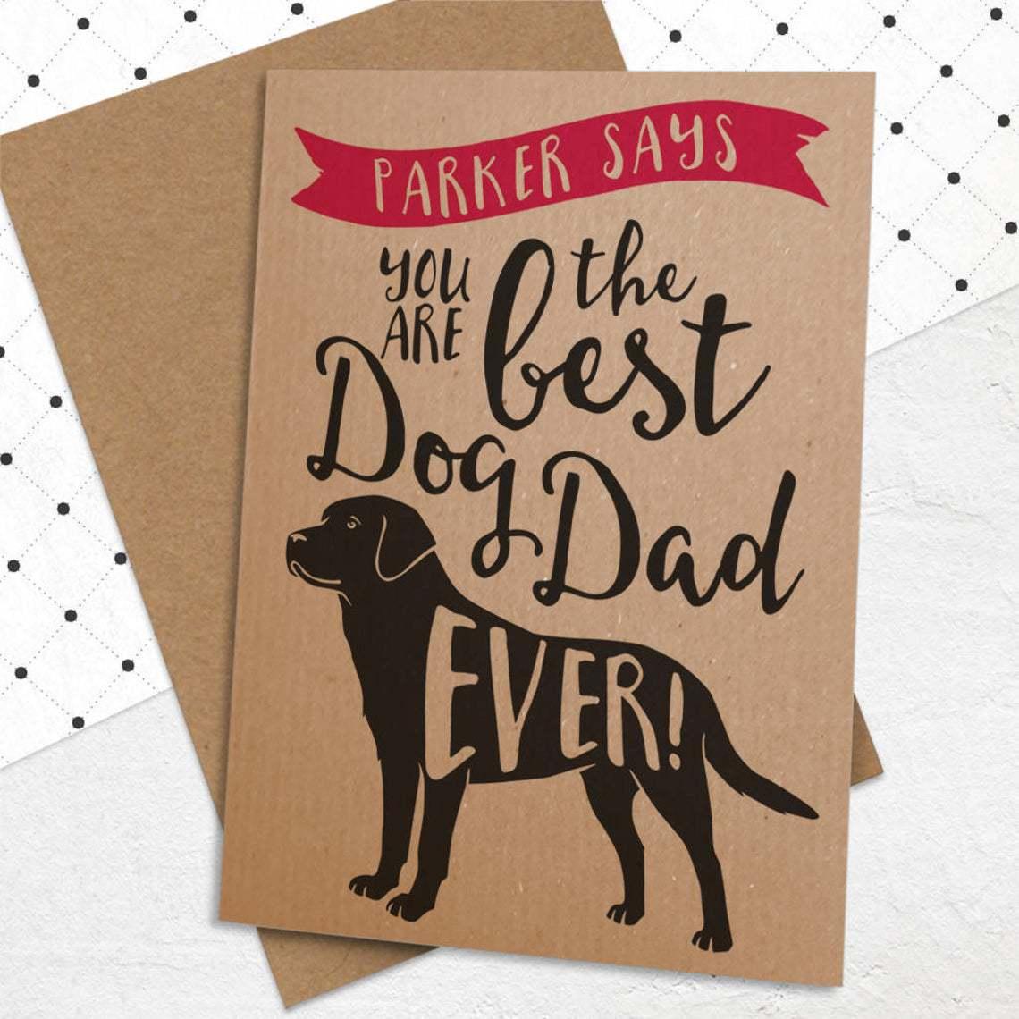 Best Dog Dad Card for him