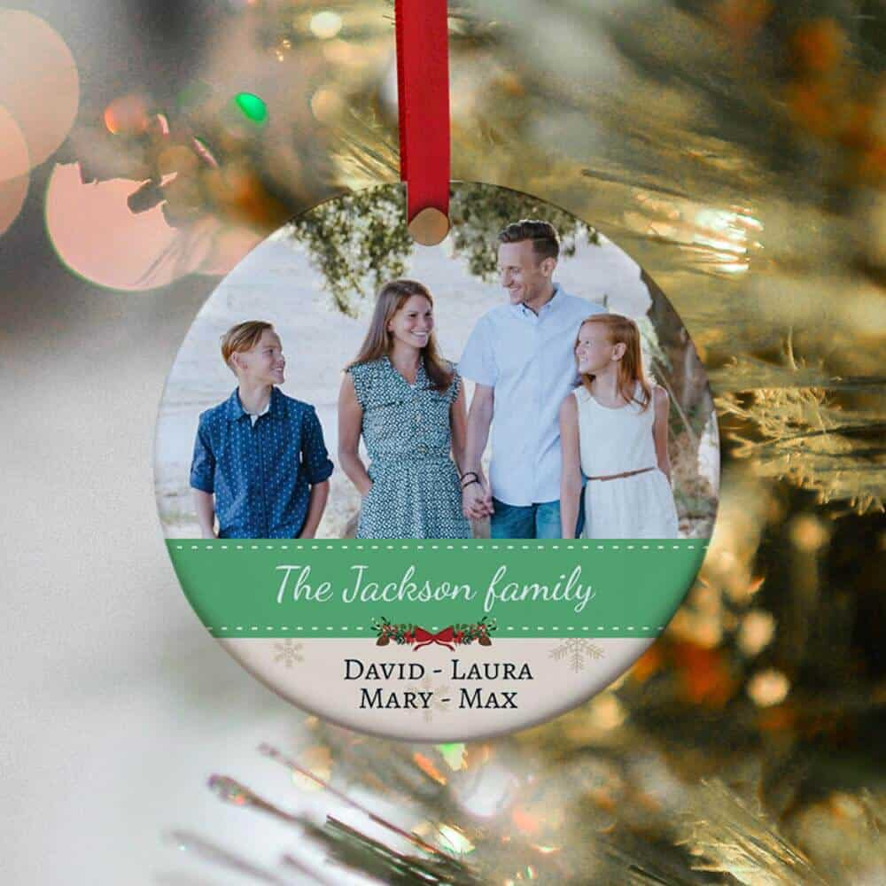 a photo ornament gift for daughter in law on christmas day