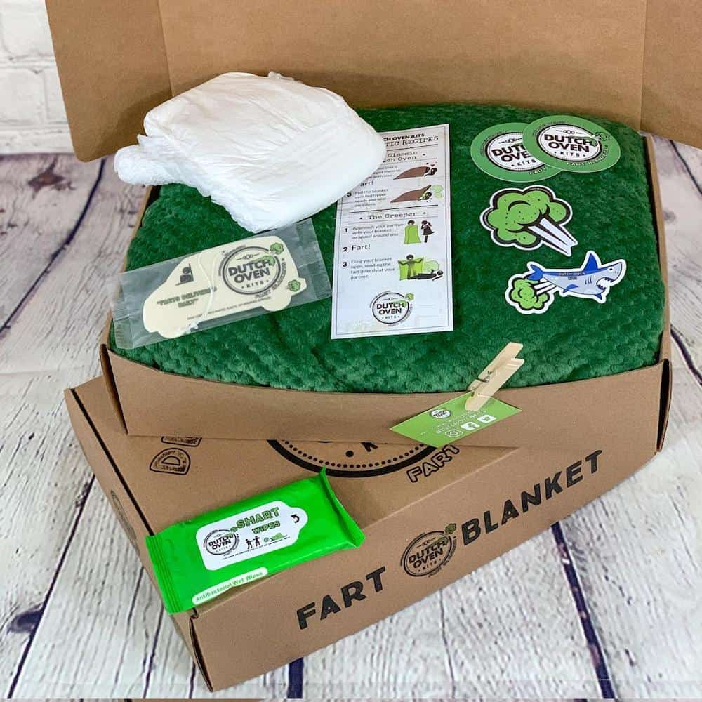 fart blanket gift box for anniversary