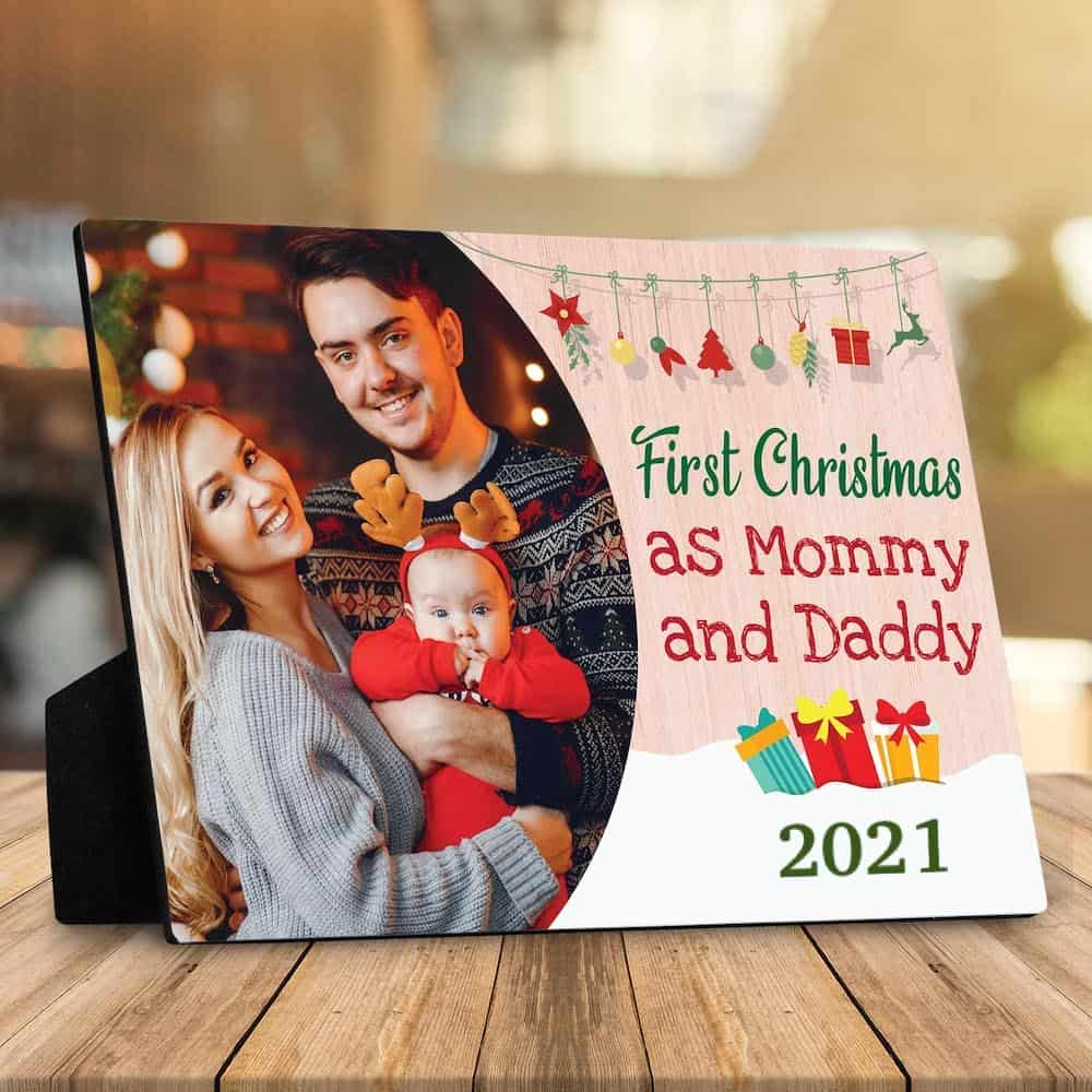 a christmas desktop plaque for daughter in law first time mom