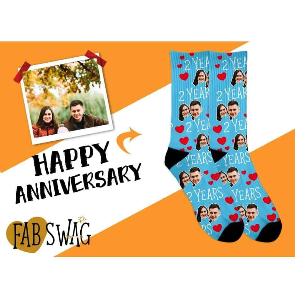 happy anniversary funny photo socks
