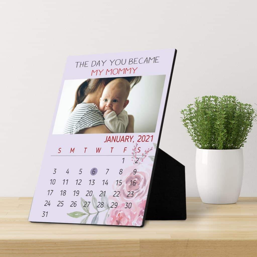 Custom Baby Photo Calendar gift for mom