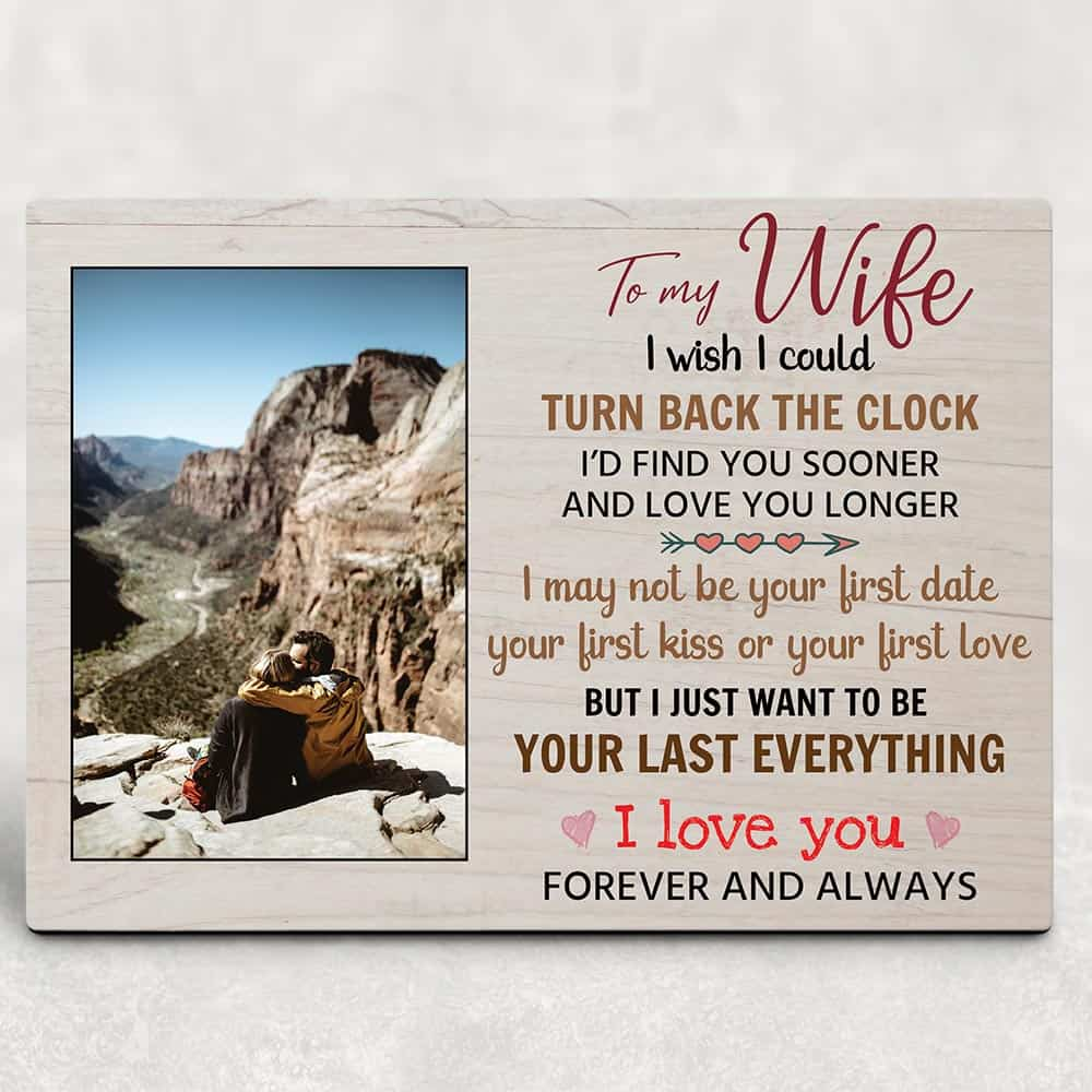 Custom photo plaque sweet gifts for my wife