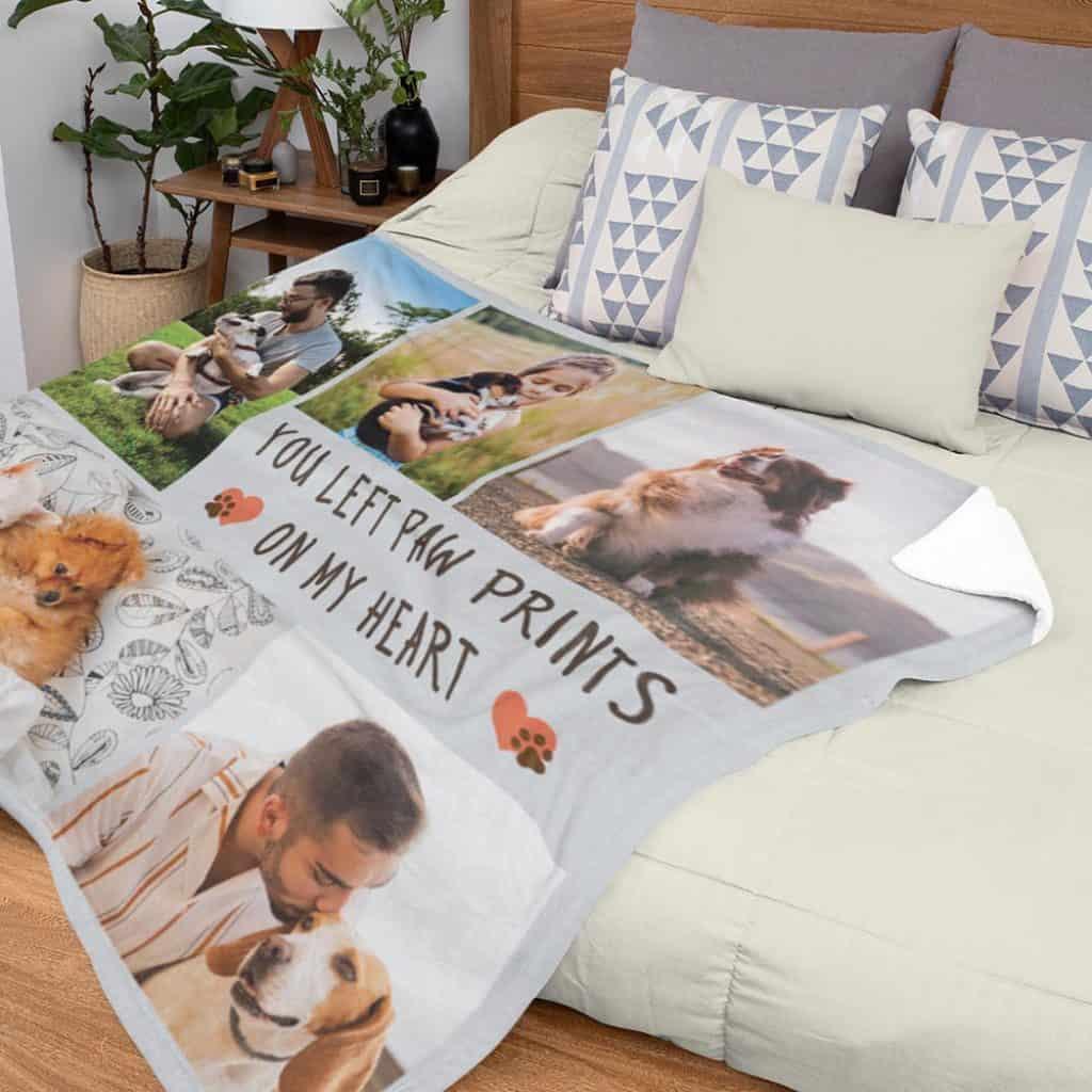 Dog dag custom photo blanket