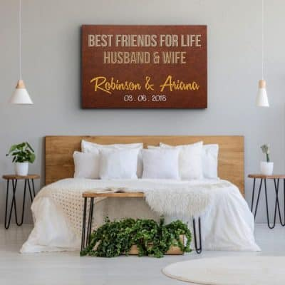 Best Friends For Life Husband and Wife Canvas Print