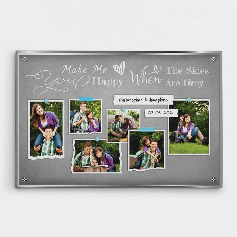6 Years Anniversary Photo Collage Canvas Print