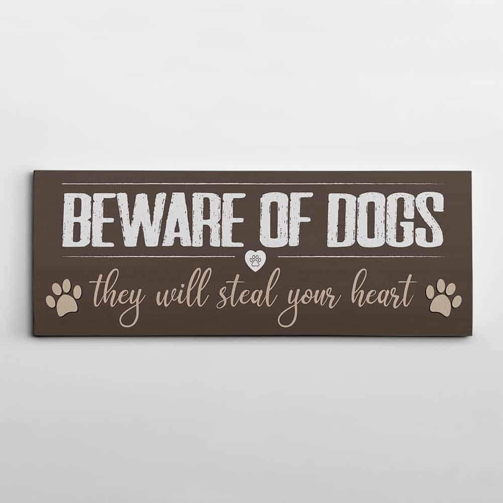 cute canvas print for dog lovers