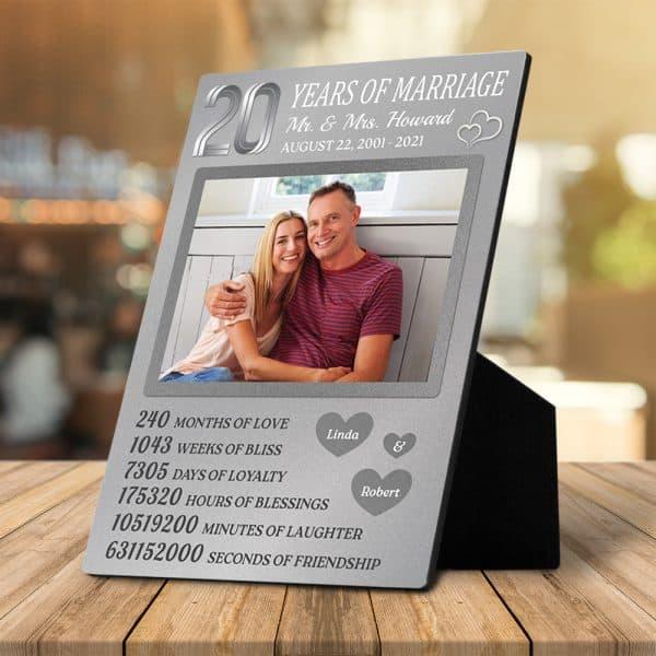 20 Years Of Marriage Custom Desktop Plaque