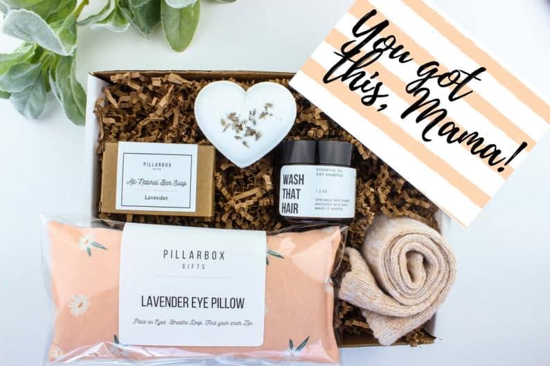 push present gift basket ideas