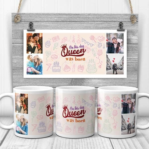 unique thing to get your girlfriend: On This Day A Queen Was Born Mug