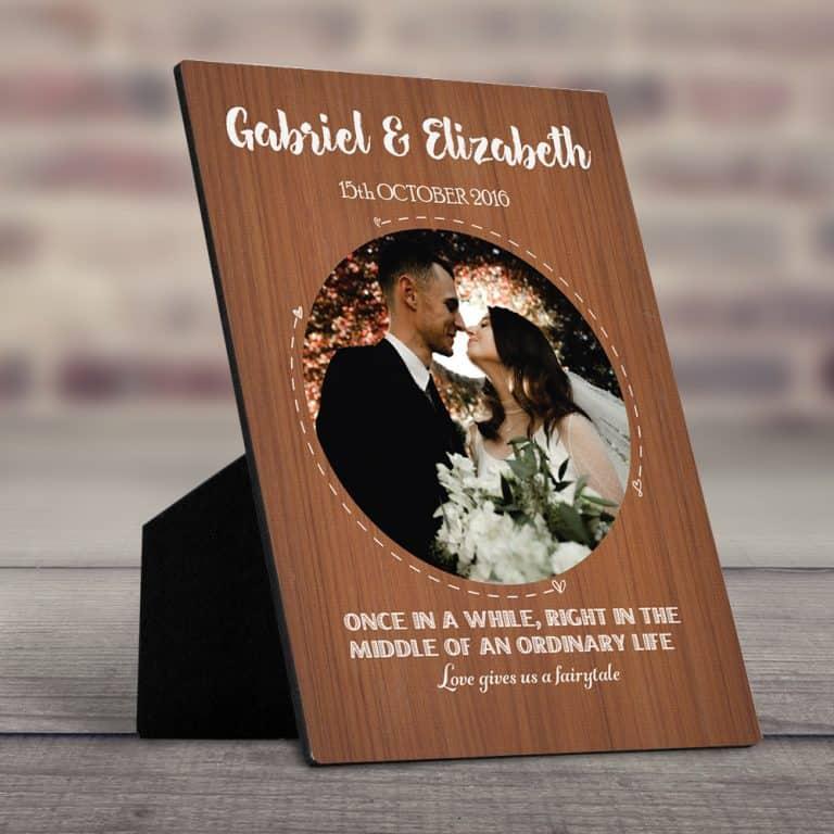 Love Gives Us Desktop Photo Plaque
