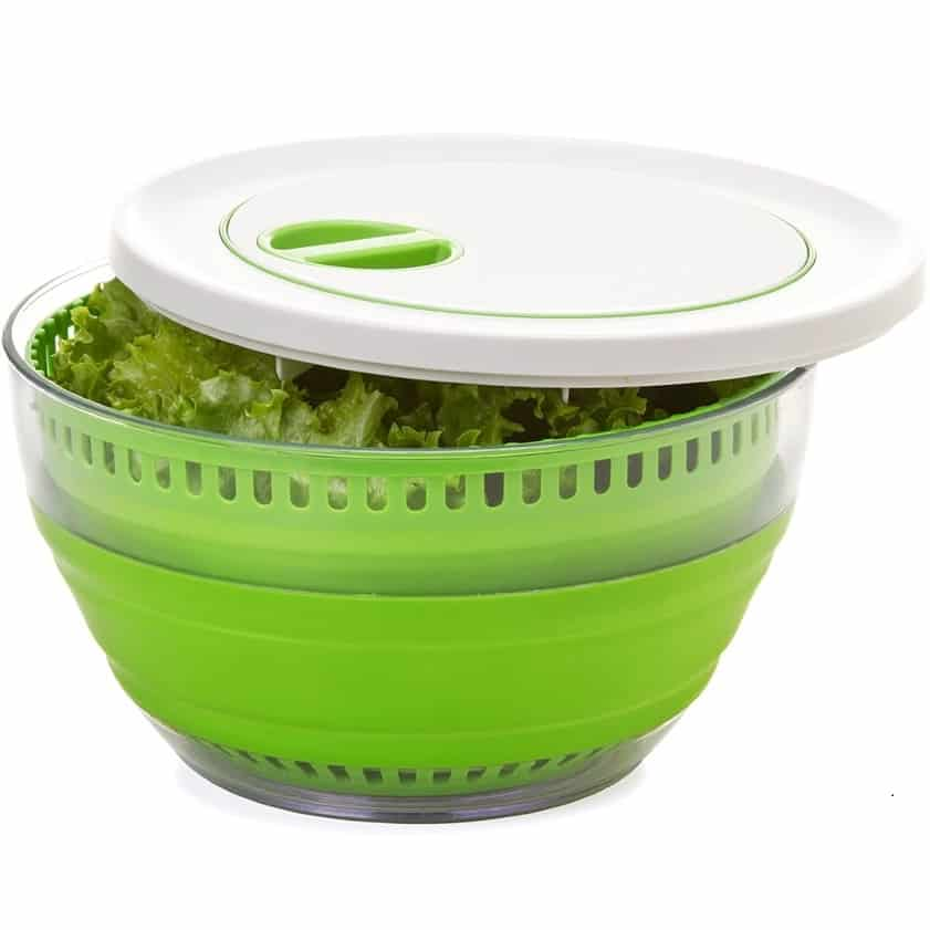Prepworks by Progressive Collapsible Salad Spinner,gifts for vegetarian cooks, asian cooking