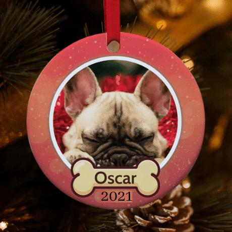 Personalized Dog Photo Christmas Ornament
