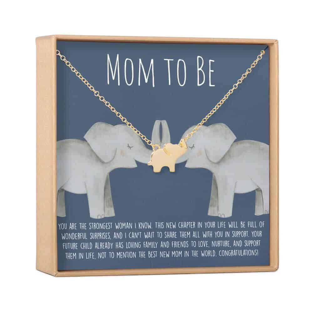 an elephant necklace for expecting moms