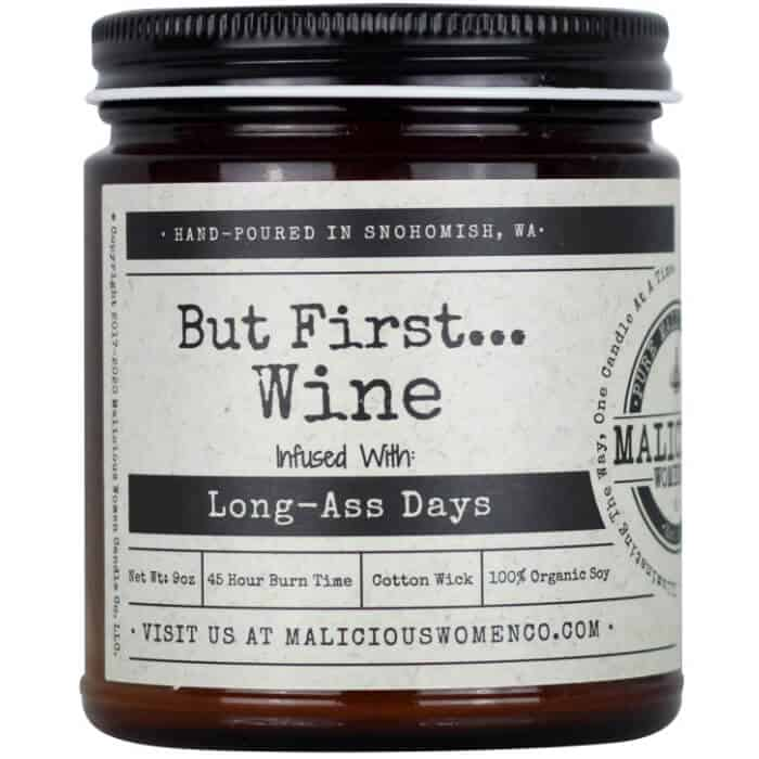 funny wine infused candle