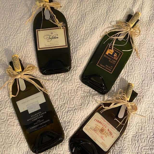personalized wine bottle cheese board - housewarming gifts for wine lovers