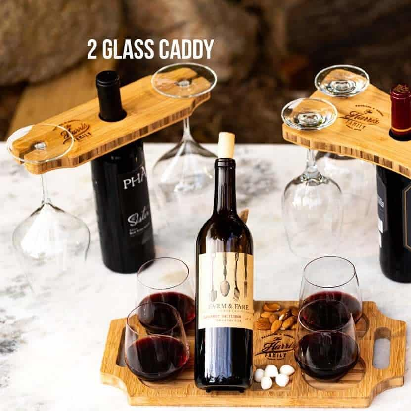 sommelier wine board with caddy gift set