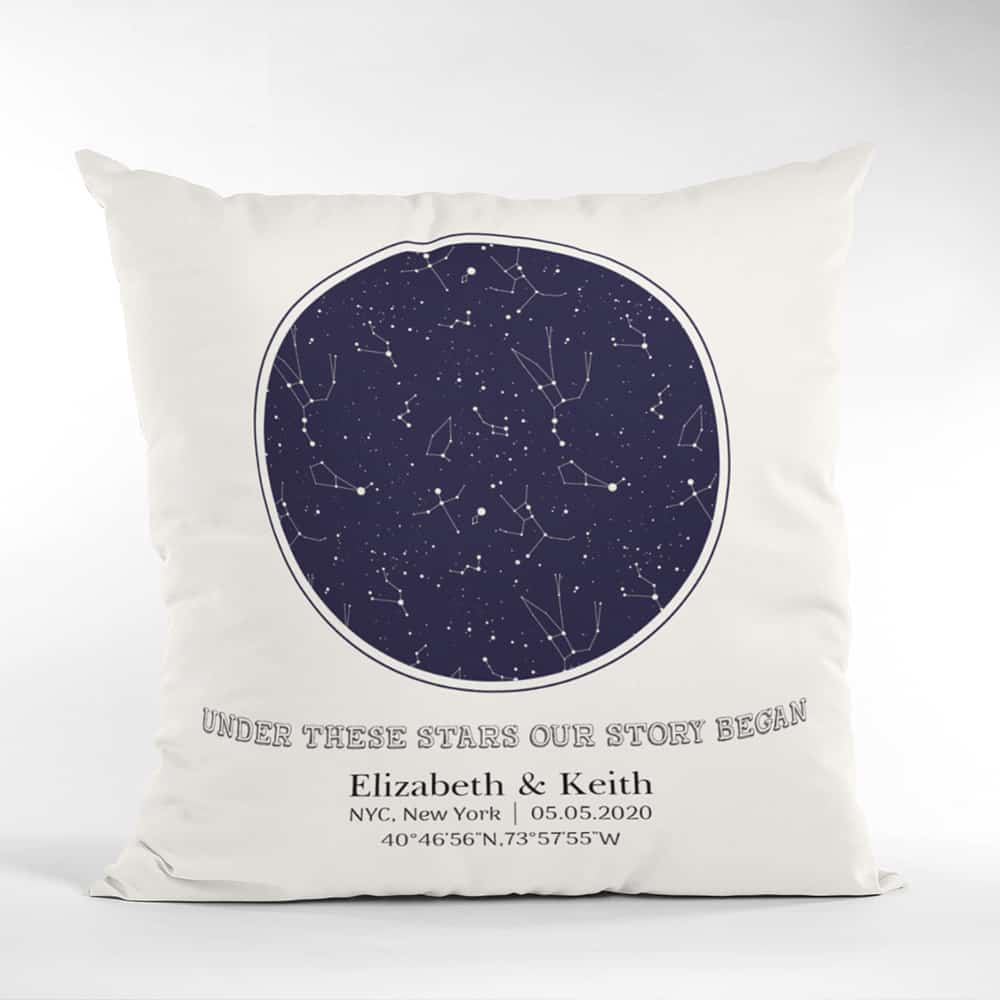 Custom star map pillow: what to buy someone who has everything for christmas