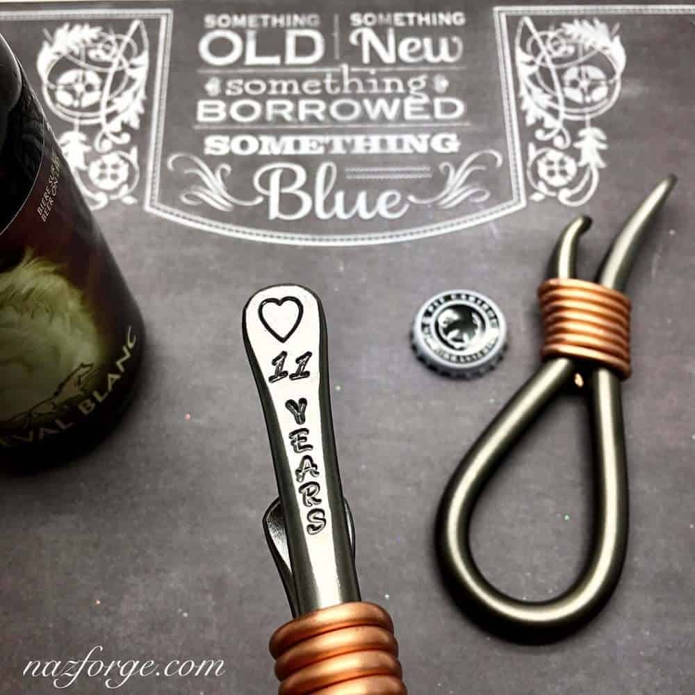 a bottle opener with the words 11 years