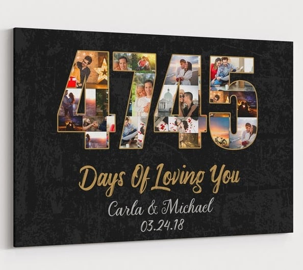 13 Years Wedding Photo Collage