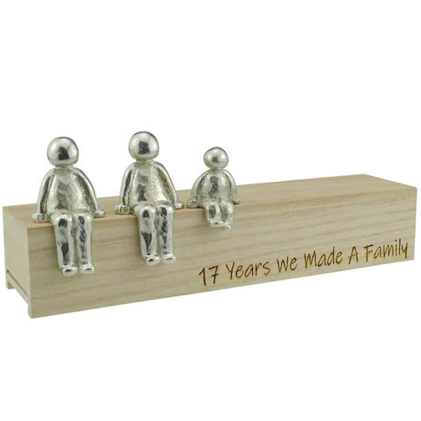 17 Years anniversary We Made a Family Sculpture Figurines