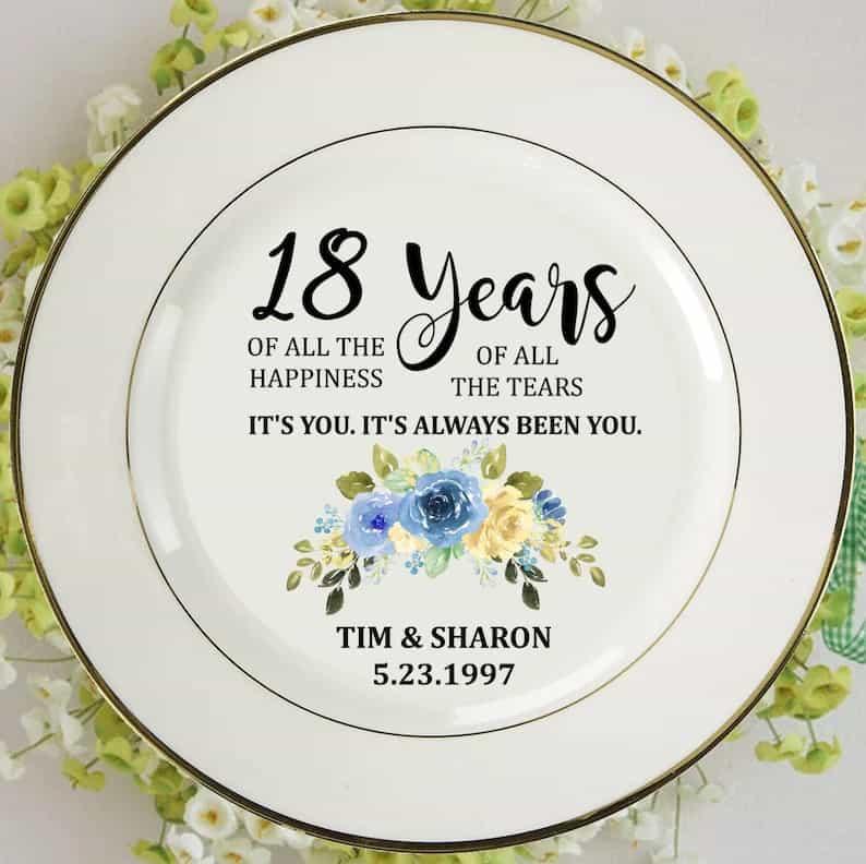 18 years anniversary symbol