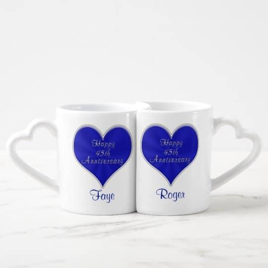 45th Anniversary Coffee Mug Set
