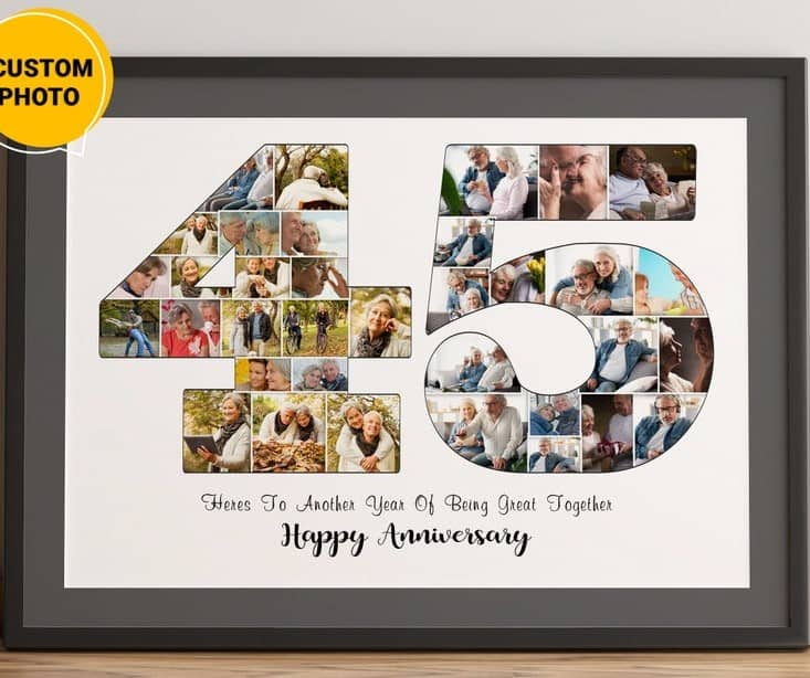 45th wedding anniversary gift ideas for couples