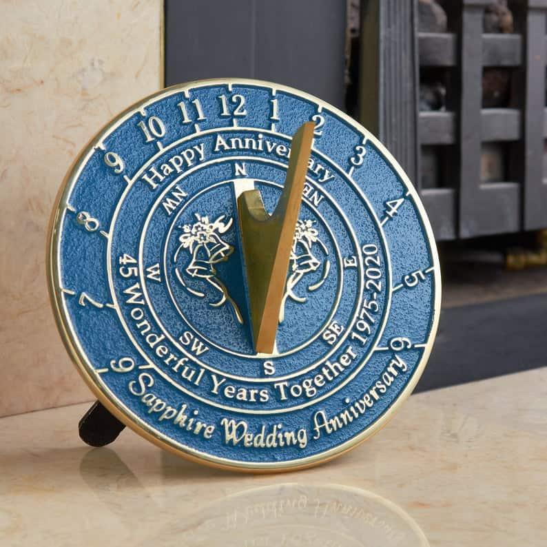 45th Wedding Anniversary Sundial