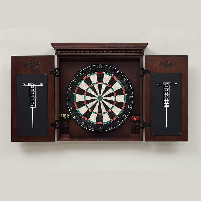 Heritage Billiards Cavalier Dart Board Cabinet anniversary gift for husband