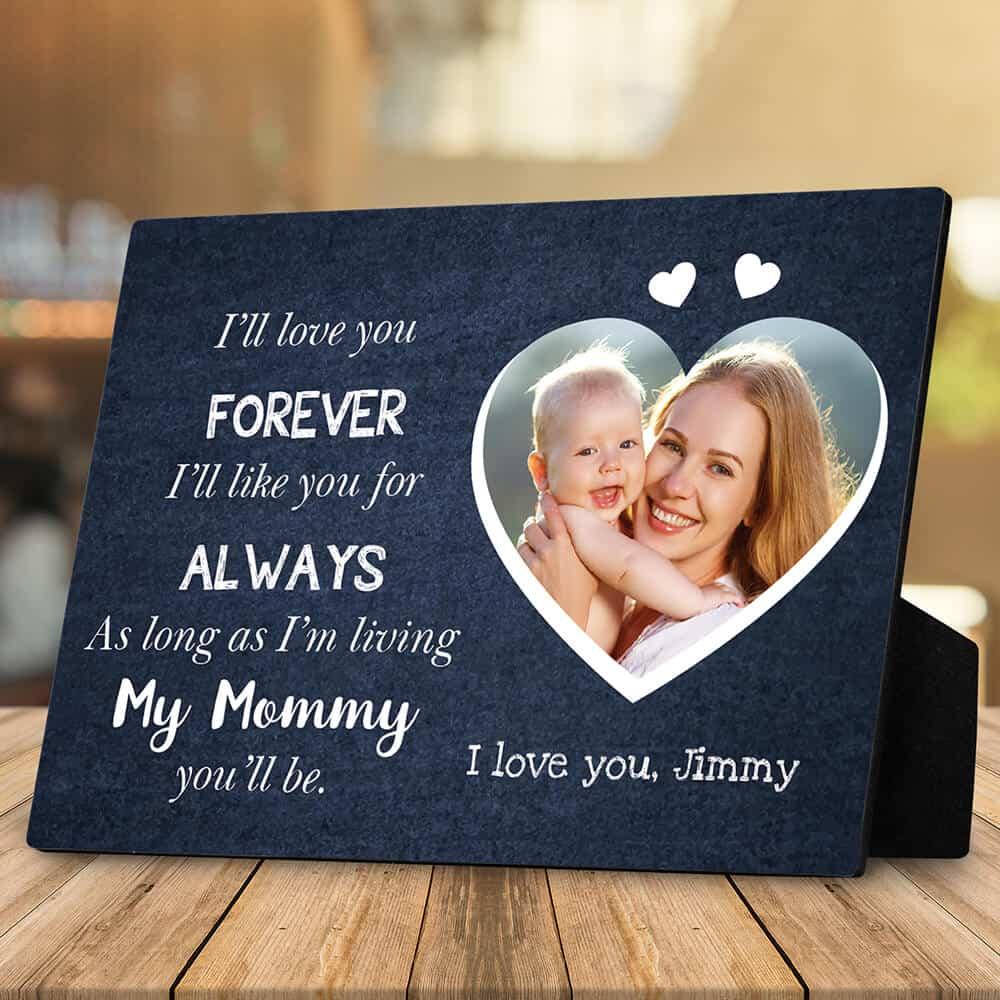 Custom Desktop Plaque Gift From Son to Mom