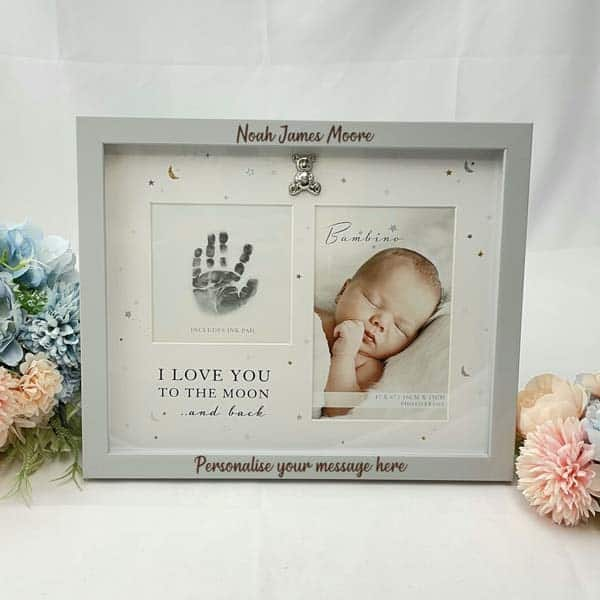 Baby's Handprint Photo Frame: best godmother gifts