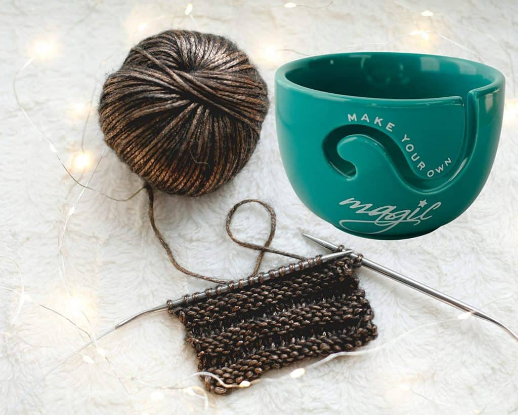 Ceramic Yarn Bowl for Crochet and Knitting