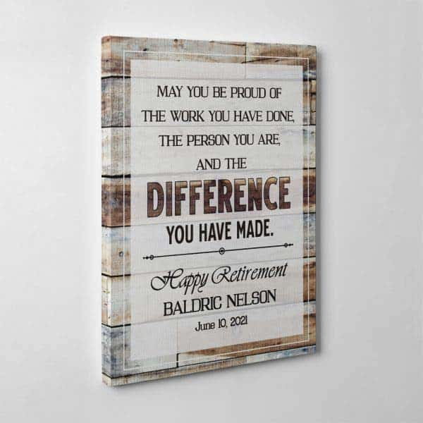 Difference You Have Made Wall Art: gifts for retired mom