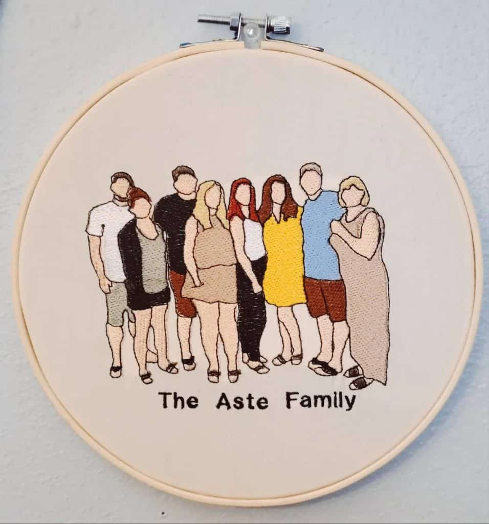 Embroidered Family Portrait