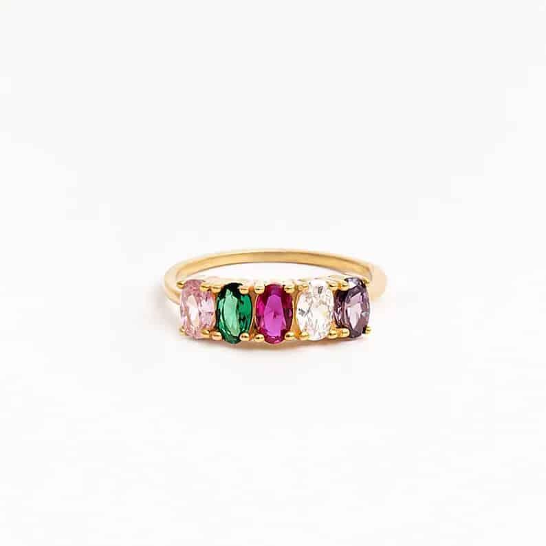Family Birthstone Ring gift idea for wife
