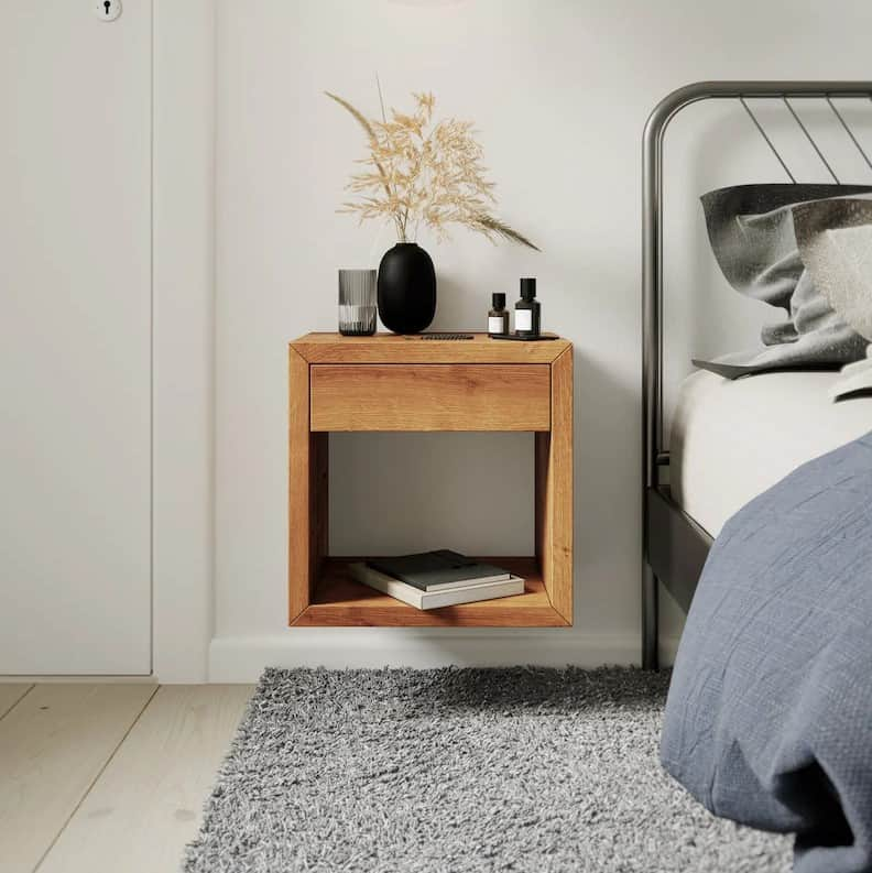 Floating Nightstand with Drawer