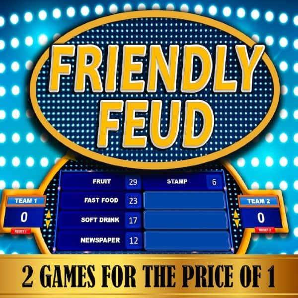 Friendly Feud Game Easy Customize Family Gift Ideas