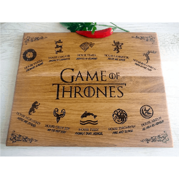 GAME of THRONES cutting board cheap christmas gifts