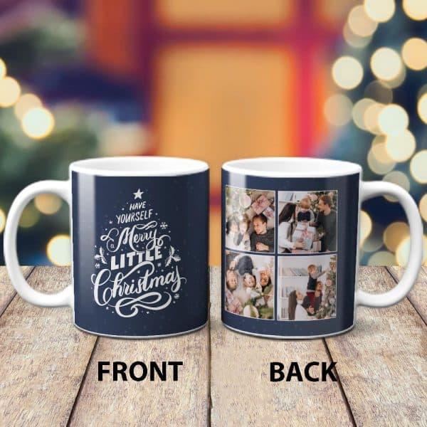 Family photos on mug