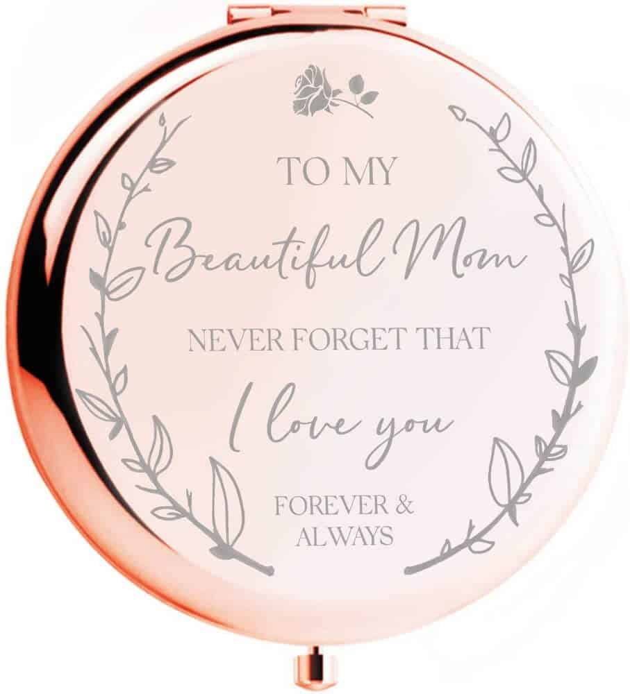 Rose Gold Compact Mirror gifts for mom from son
