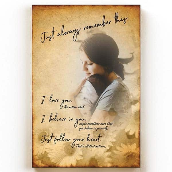 Just Always Remember This Wall Art: godmother present