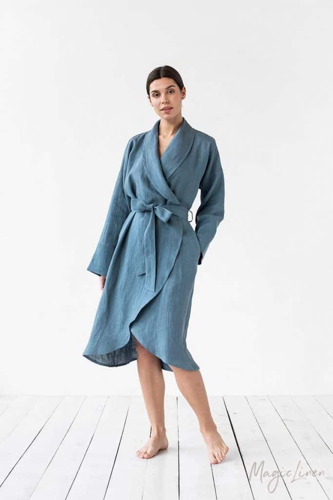 Linen Bath Robe