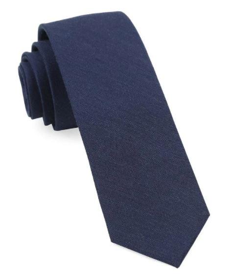 Linen Row Navy Tie