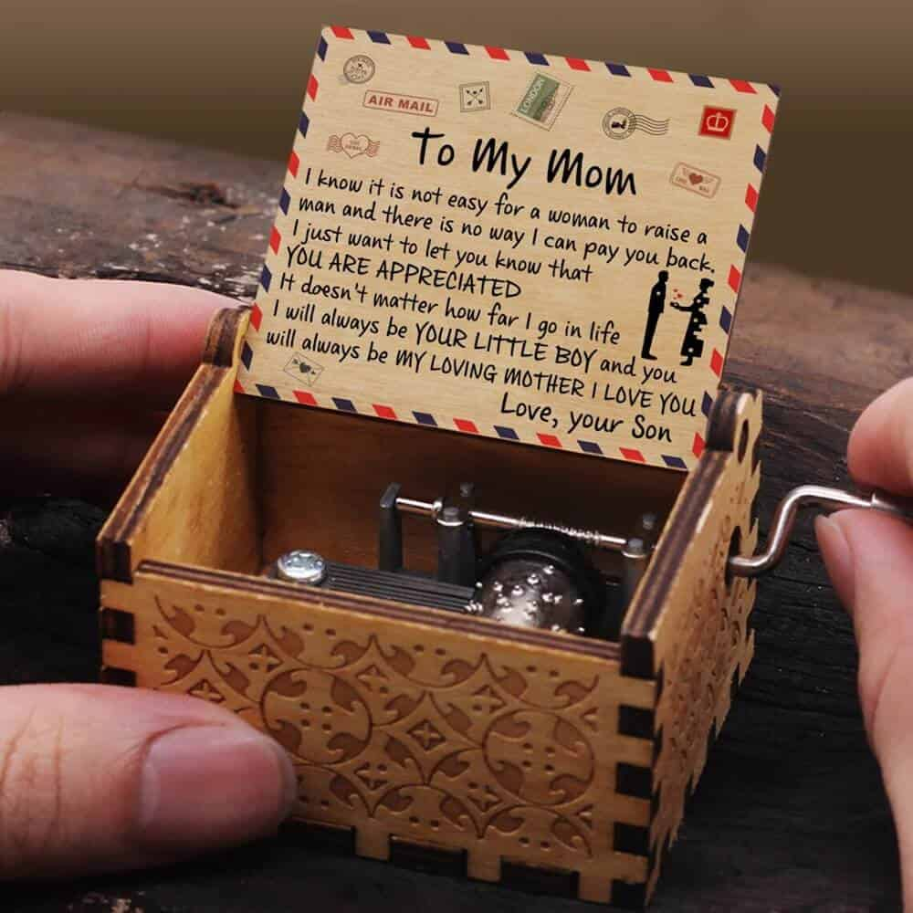 Music Box Gift from Son to Mom