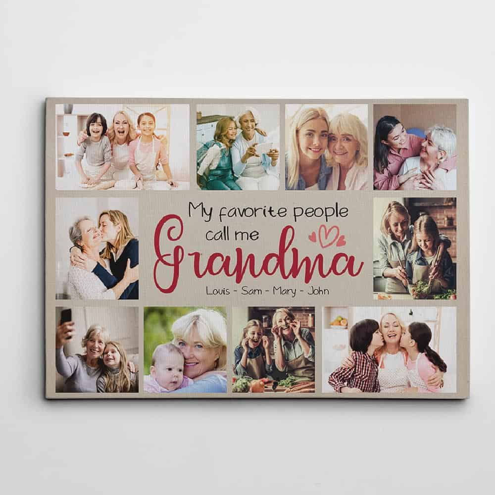 My Favorite People Call Me Grandma – Photo Collage Canvas Print