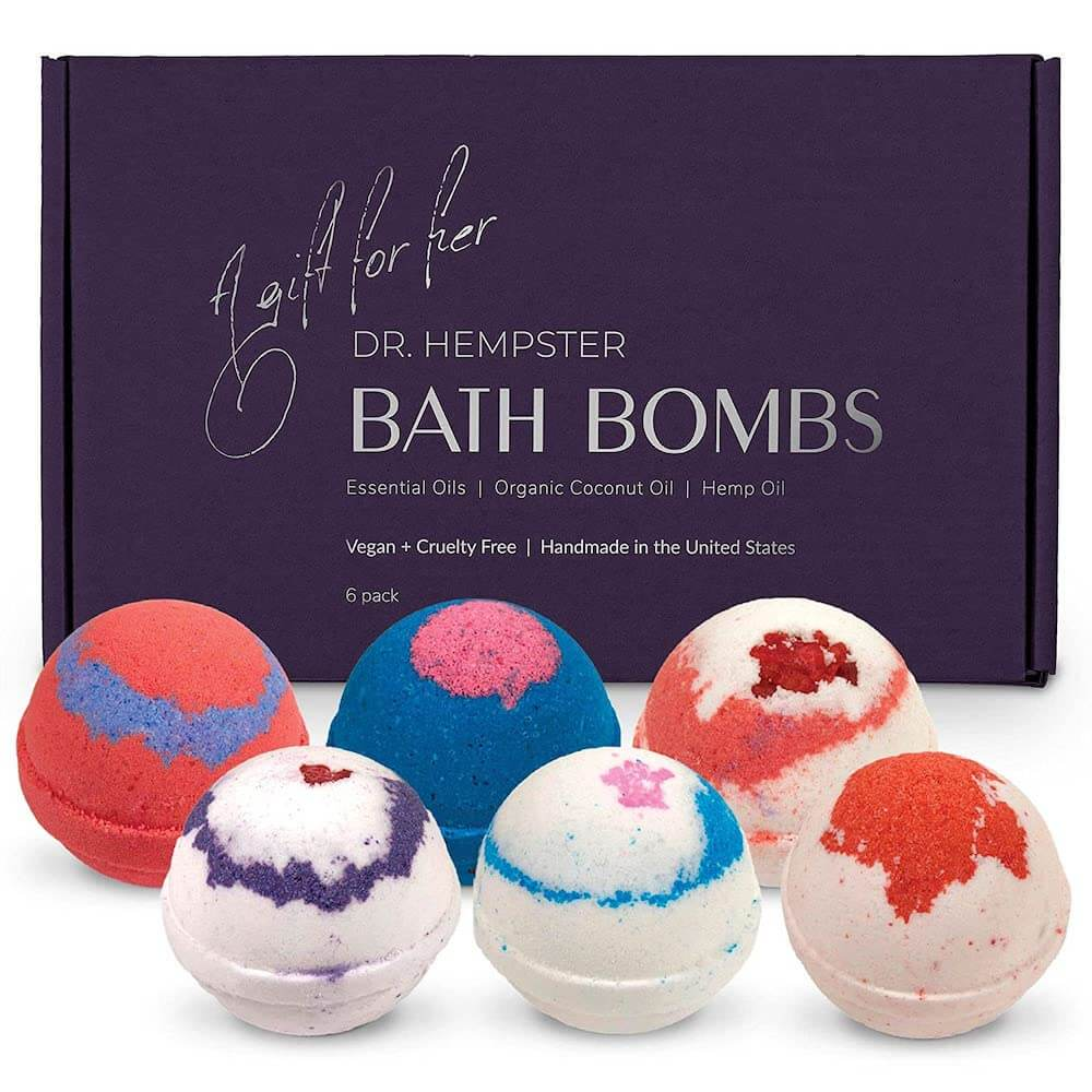 An Inexpensive Gift Set of Organic Bath Bombs For Women