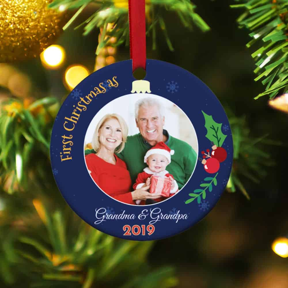 Our First Christmas Grandparents Personalized Ornament